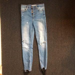 High waisted jeans zara